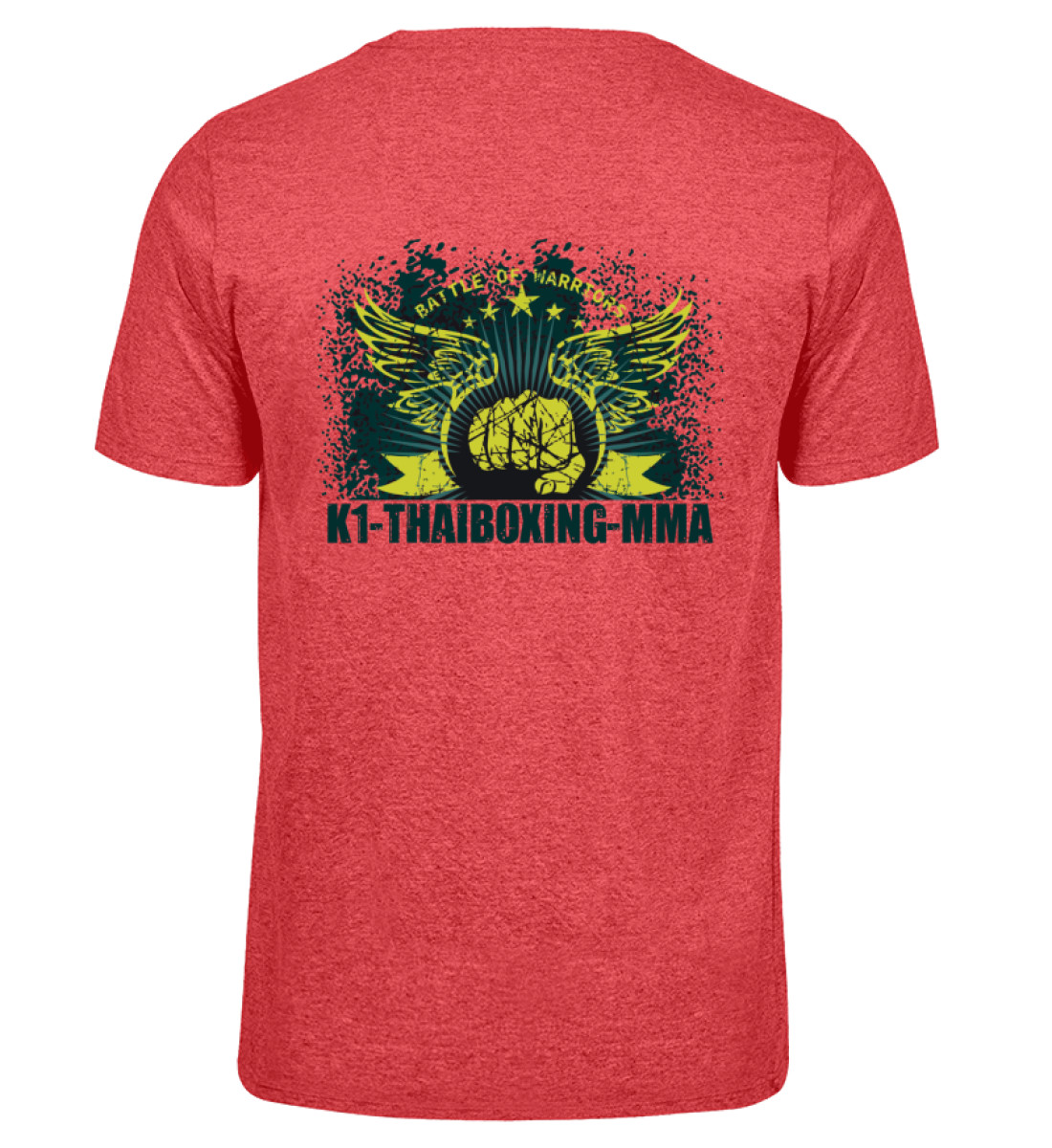 COMA T-Shirt K1-Thaiboxing-MMA - Herren Melange Shirt-6802