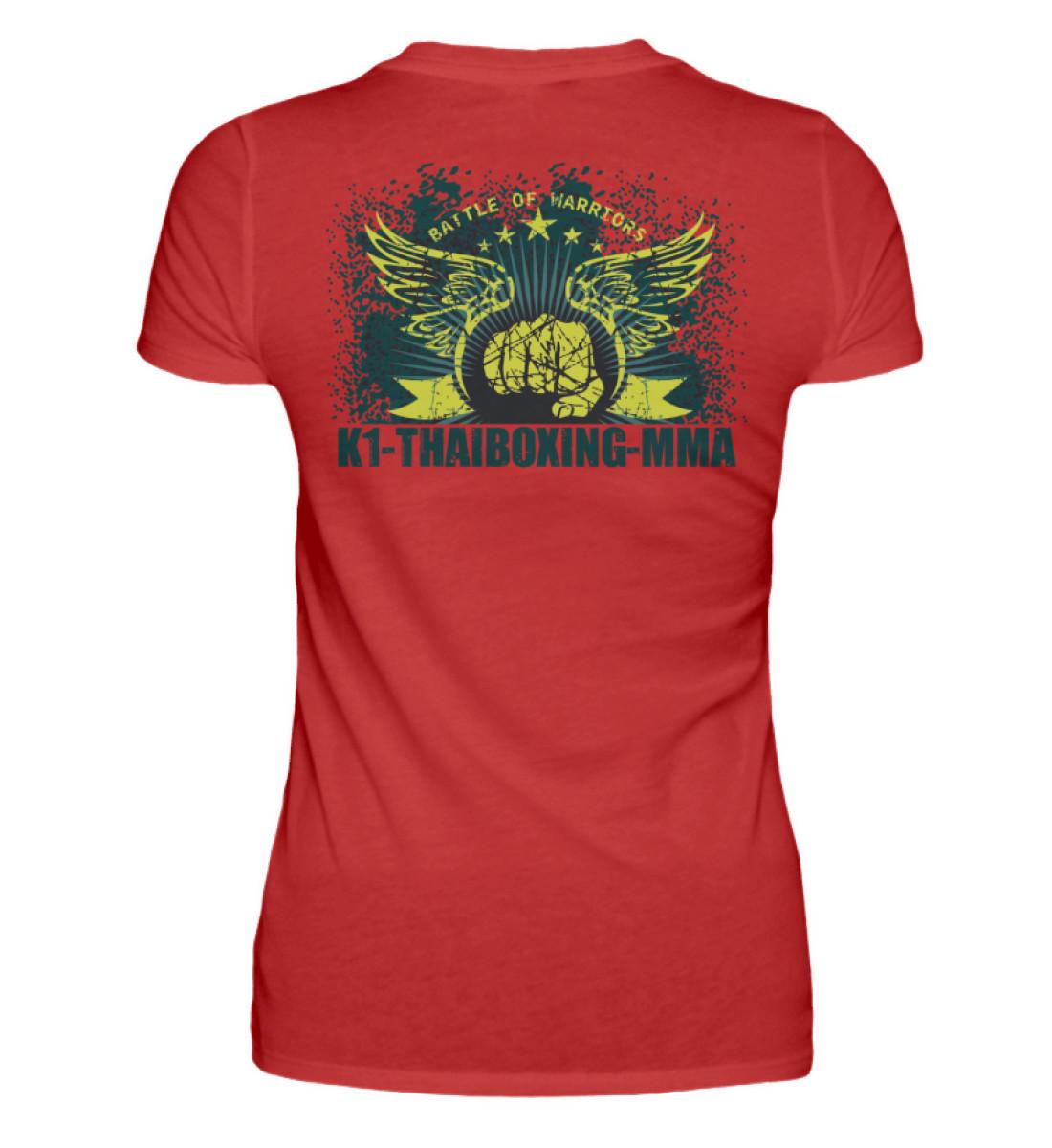 COMA T-Shirt K1-Thaiboxing-MMA - Damen Premiumshirt-4
