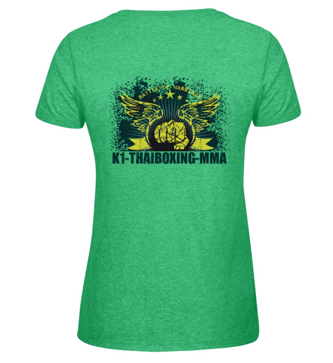 COMA T-Shirt K1-Thaiboxing-MMA - Damen Melange Shirt-6804